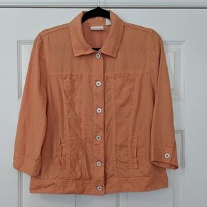 Chico's Orange Linen Jacket
